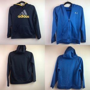 Boys Lot, Adidas and Under Armor Sweatshirts L